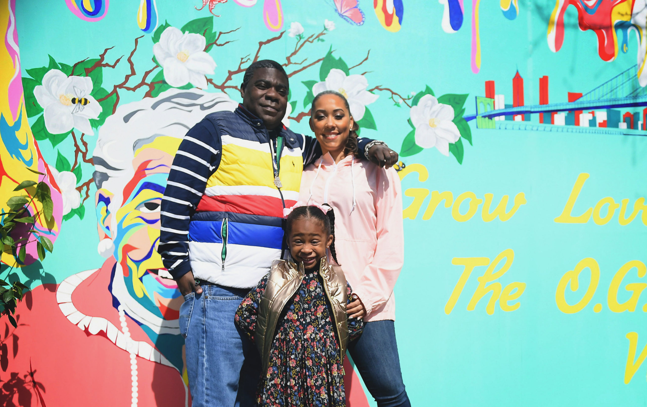 Tracy Morgan in Front of Mural