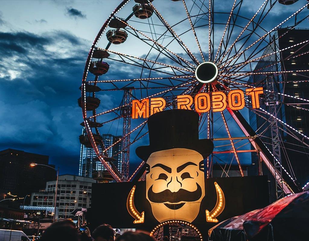 Mr. Robot Ferris Wheel at SXSW