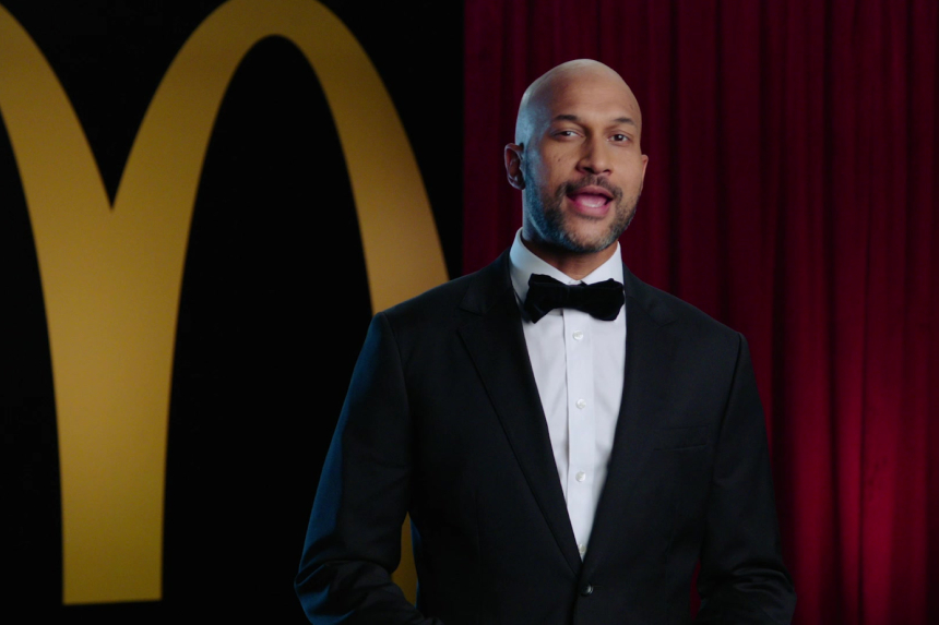 Michael-Keegan Key w/McDonalds logo backdrop