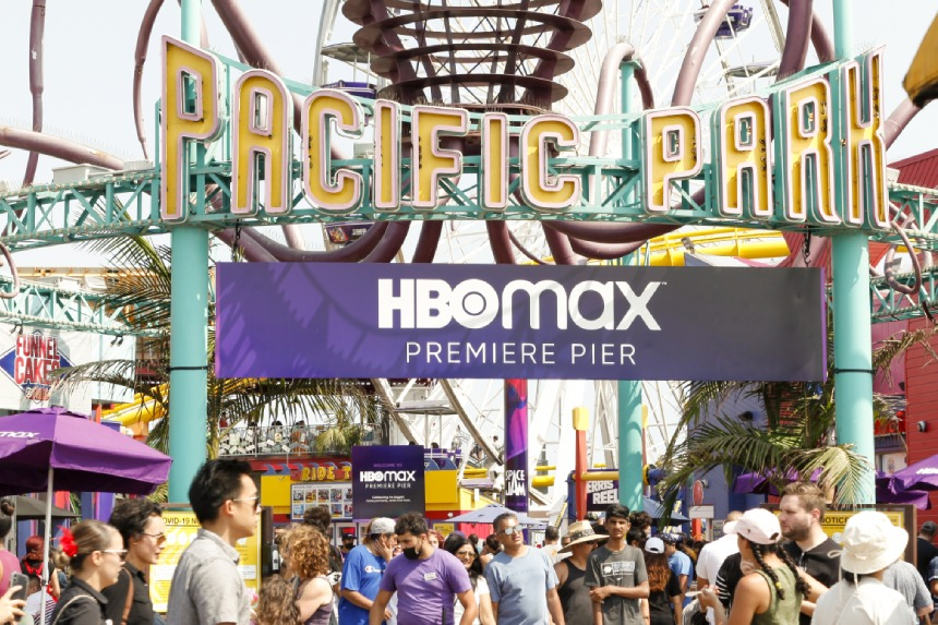 HBO Max Premiere Pier takeover entrance